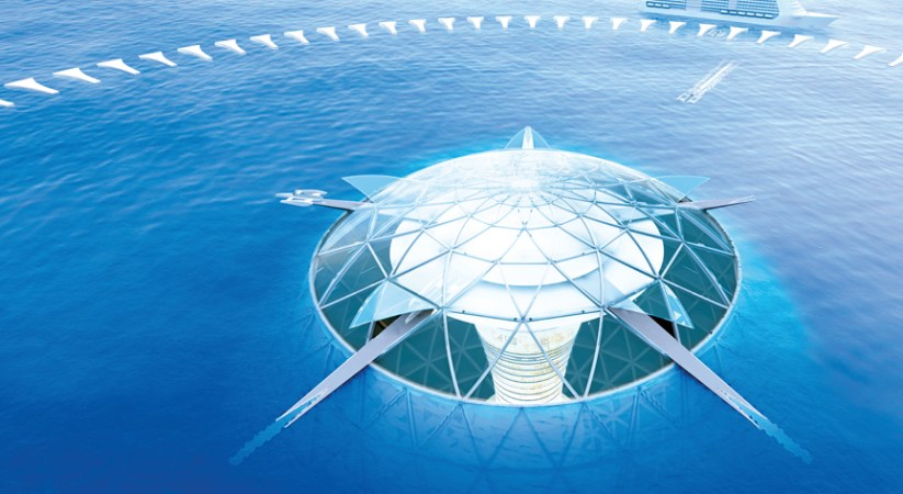 Japanese firm answers climate change with plans for an underwater city