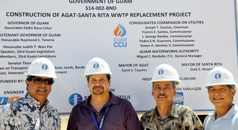 GWA breaks ground on Agat Santa Rita Wastewater Treatment Plant