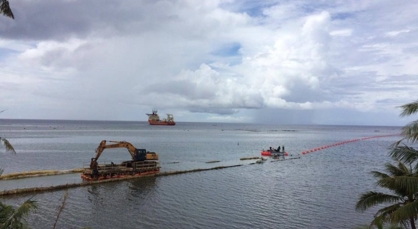 News flash – Trans-Pacific undersea cable pulled ashore in Guam
