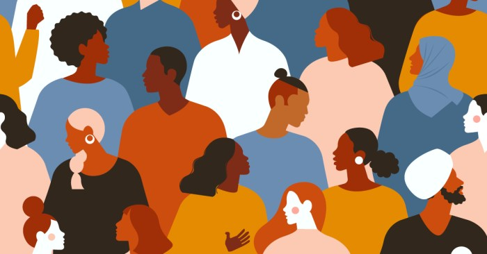 The Difference Between Diversity and Inclusion | art: crowd of diverse people