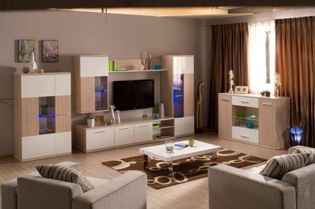 Бежевая мебель под телевизор