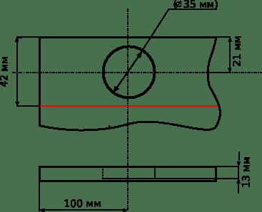Как создается разметка для установки мебельных петель