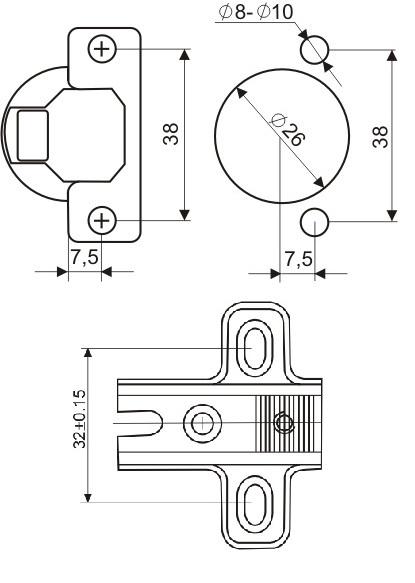 Правильная разметка для установки мебельных петель