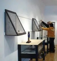 Exhibits - setting up the cases