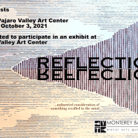 Reflections Exhibition Call for Artists Image of a peninsula and sky reflecting onto the ocean