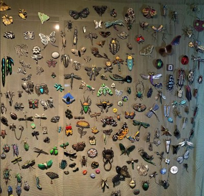 Jeanie Pratt collection of bug brooches