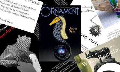 collage of member publications and show announcments