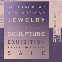 details of exhibit and sale of small one of a kind jewelry and small sculpture