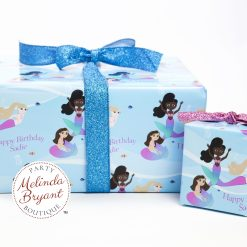 Personalized mermaid gift wrap