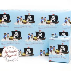 Pirate themed custom wrapping paper