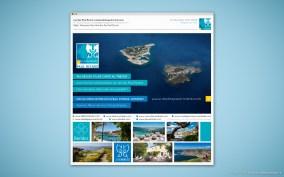 Visuel Email Promo - Cible Professionnelle - Nouveaux Sites Web Iles Paul Ricard