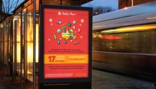 Affiche - Abri Bus - Marché éphémère - Halle Mart - Décembre 2014