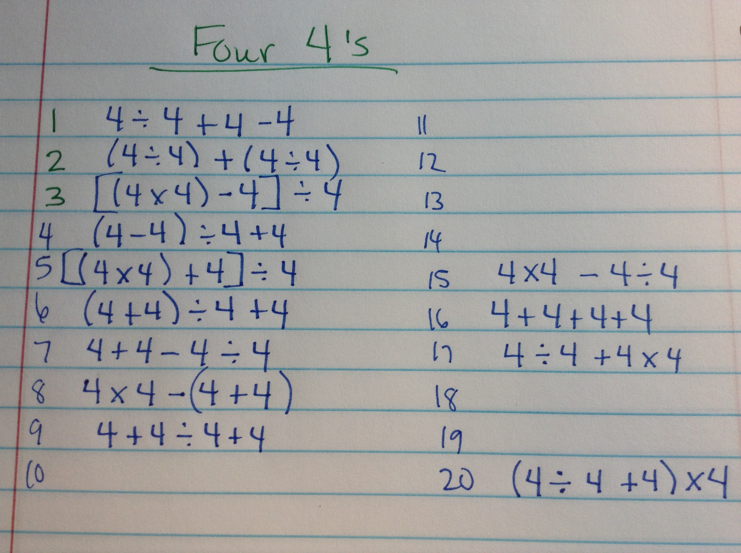 Four 4 S Mbrunnermath
