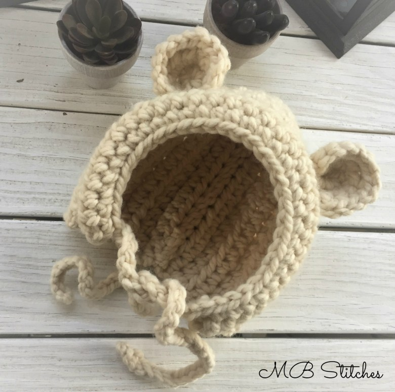 Crochet Baby Bear Bonnet Mb Stitches