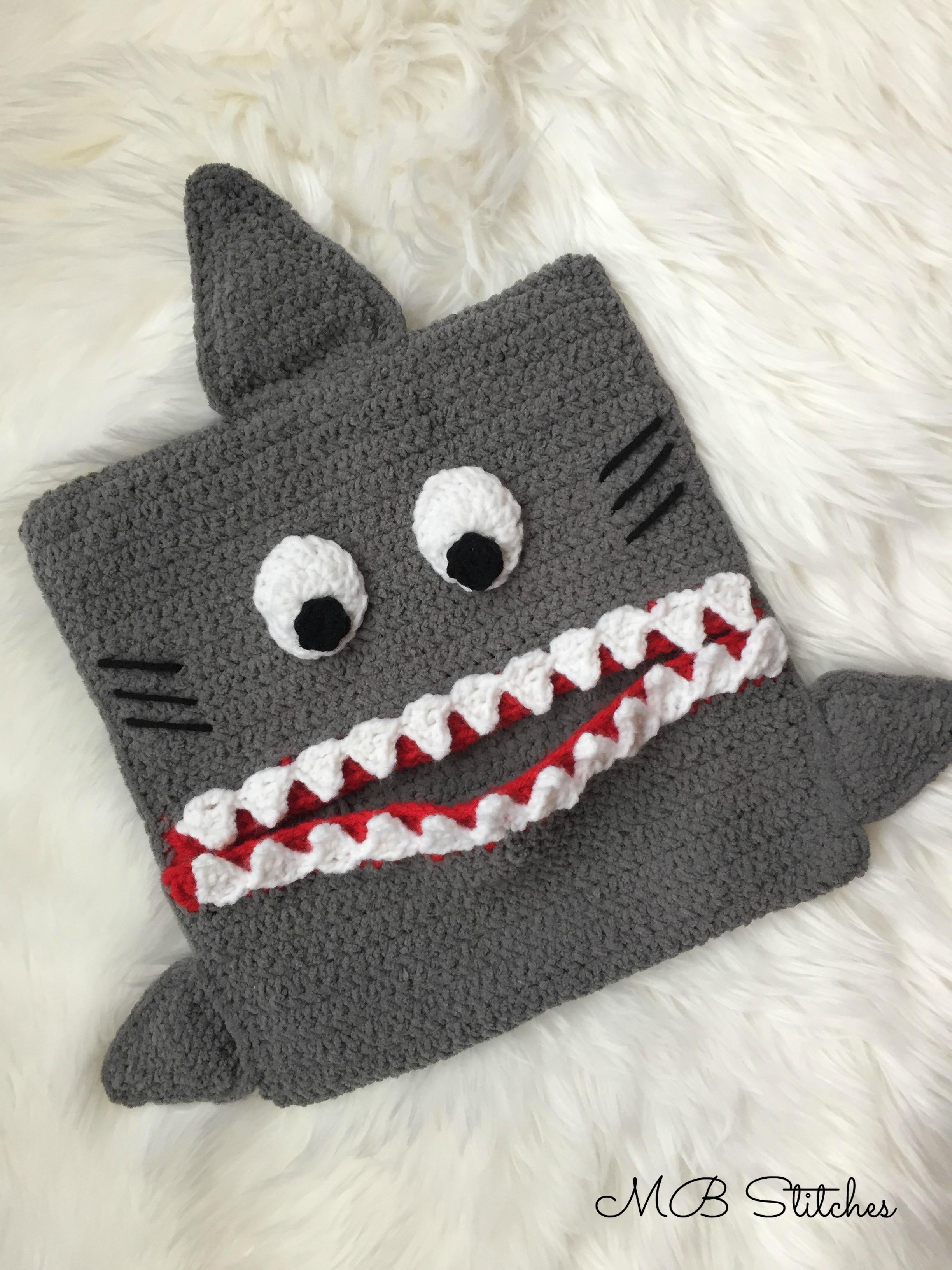 Crochet Shark Pajama Eater Pillow Mb Stitches