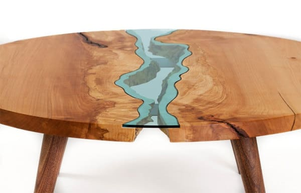 epoxy filled table