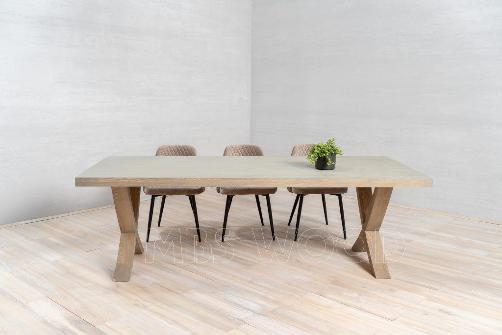 Egebord med træben, naturlig olie mbswood.com