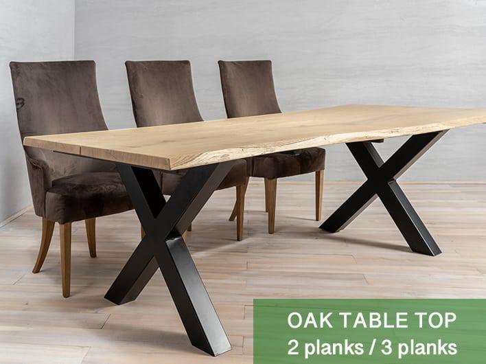 Eiken tafelblad 2/3 planken