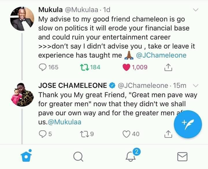 """""""Great Men Pave Way For Greater Men!"""" – Jose Chameleone Responds To Mukula. 3"""