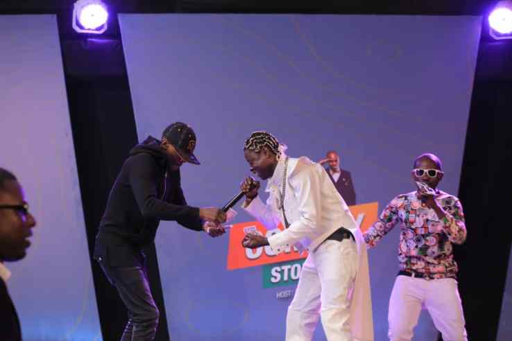 Jose Chameleone And Clever J Reunite At Comedy Store, After 13 Years Of Bitter Rivalry. 2