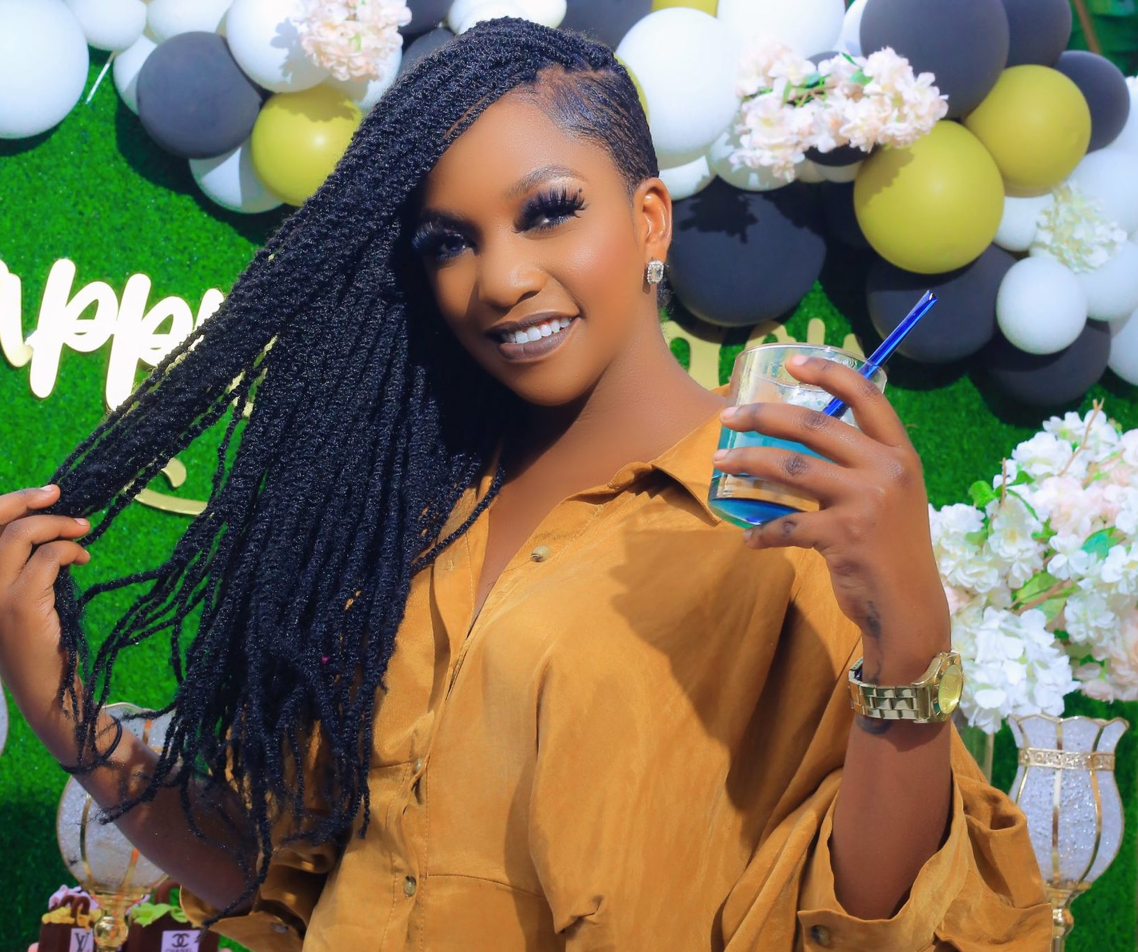 Ntale proves she doesn't bleach or wear fake bums