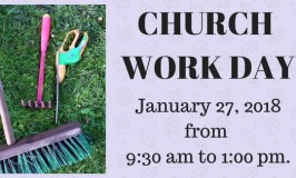 Church Work Day Jan 2018