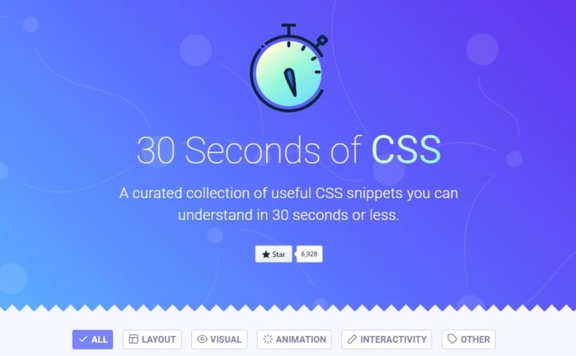 30 Saniyede CSS Öğrenin