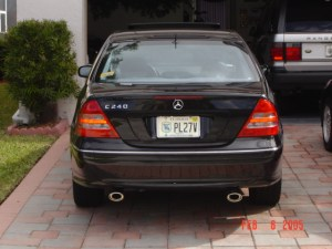 My C240 pics of Bix and custom dual exhaust  MBWorld Forums