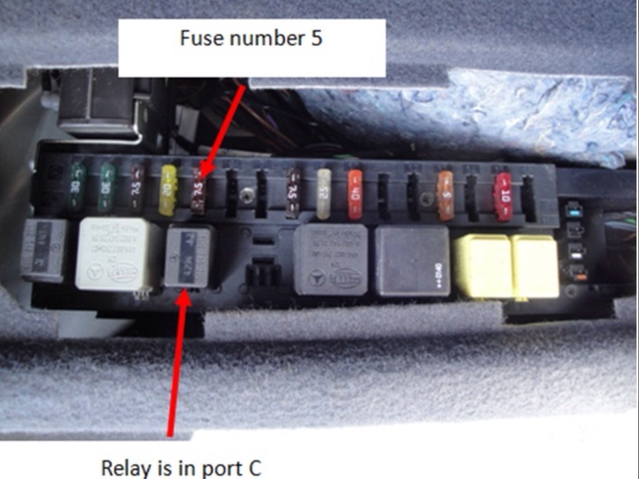 2006 Mercedes S500 Fuse Diagram