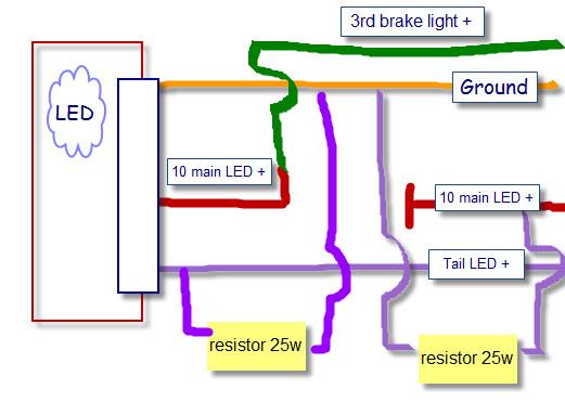 trailer wiring diagram tail lights led  2002 honda civic lx