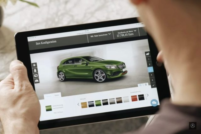 """The """"Mercedes Me"""" order tracker lets German buyers follow the production of their cars."""