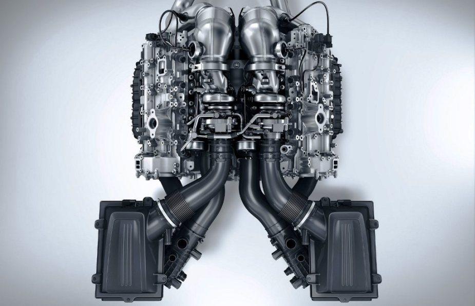 Hot V Engine