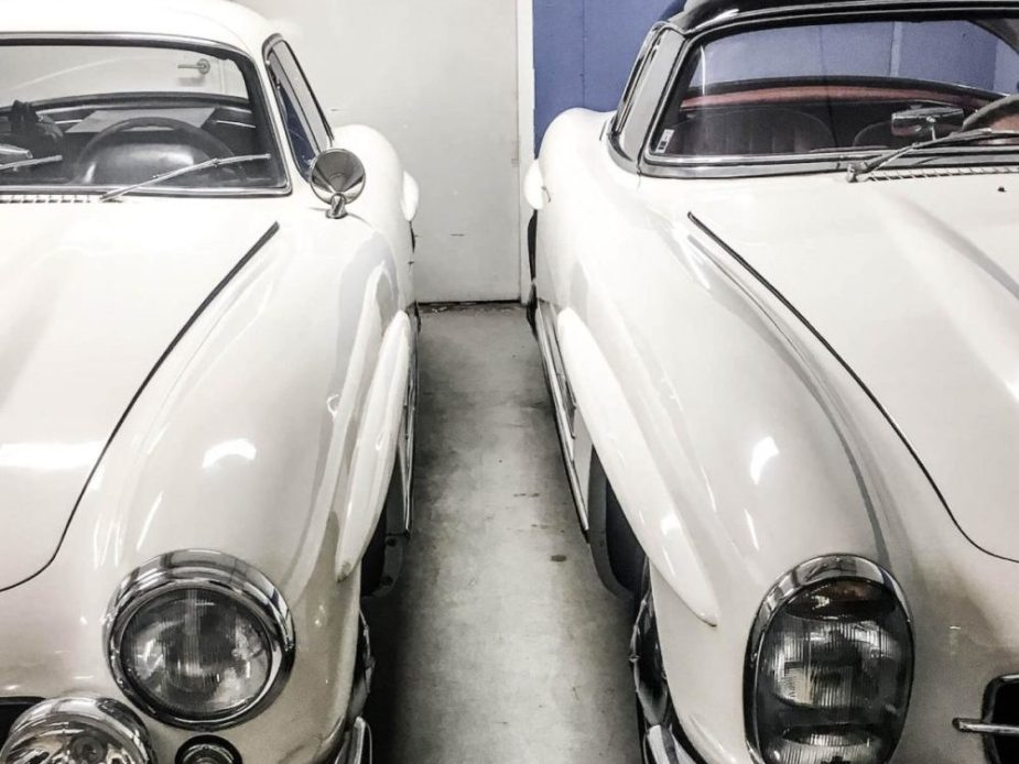 1956 SL Roadster and 1963 SL Gullwing Pair