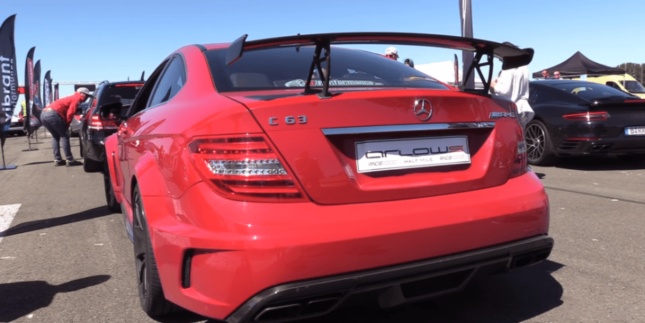 C63 AMG Black Series runway race brutal