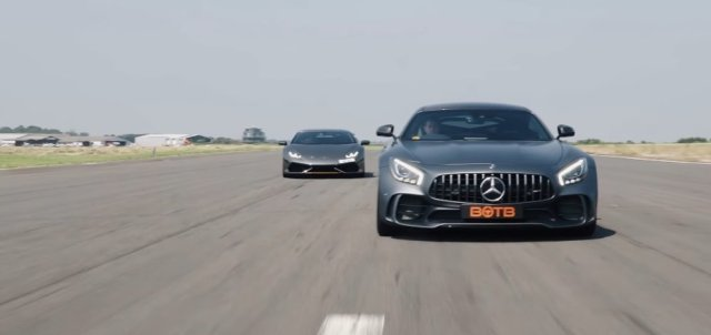 AMG GT R and Huracan
