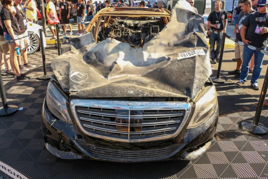Burned Maybach Front