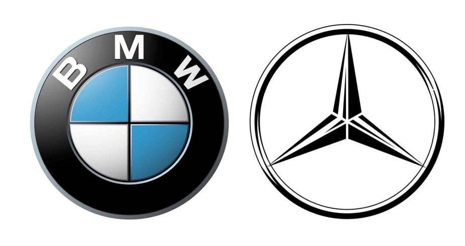 BMW Mercedes logos