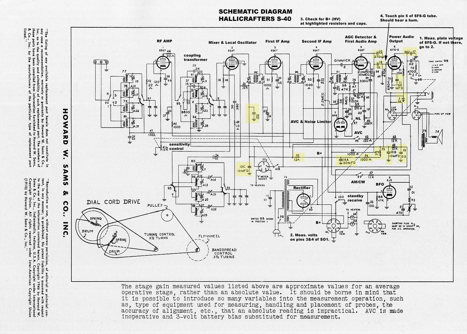Hallicrafters Model S 40 General Coverage Short Wave Receiver