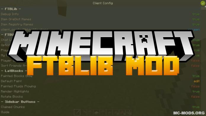 ftblib mod for minecraft logo