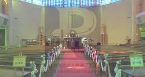 ザビエル教会主聖堂とパウロ社ロゴ