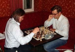 2010-06-09 žaibo šachmatų turnyras: V. Guseinov; Nerijus Mikelionis
