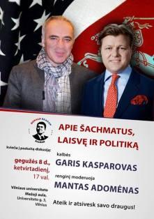 Garis Kasparovas Lietuvoje -2014 m. gegužės 8-9 dienomis