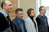 II-oji vieta - GM Darius Zagorskis; varžybų organizatorius - FM Boris Rositsan; I-oji vieta - Marius Bieliauskas; varžybų teisėjas - Gintas Zybartas; III-oji vieta - Vaidotas Valantiejus; žaibo šachmatų turnyras Lietuvos žydu (litvakų) bendruomenėje, skirtas Vasario 16-ajai, Lietuvos valstybės atkūrimo dienai pamineti; blitz chess tournament to mark the 16th of February – State of Lithuania Restoration Day; 2016-02-14 Vilnius