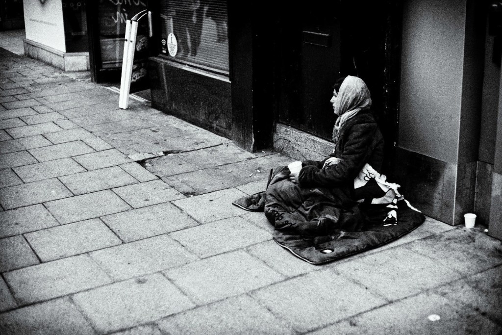 poor woman on the street