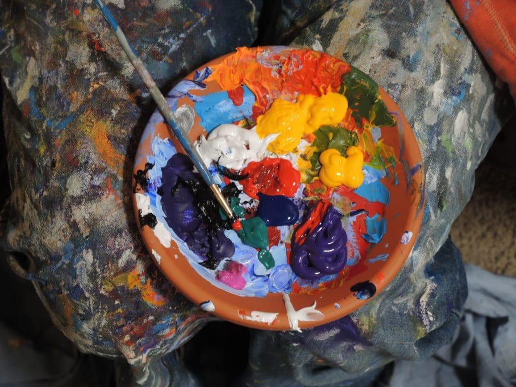 Paint on palette