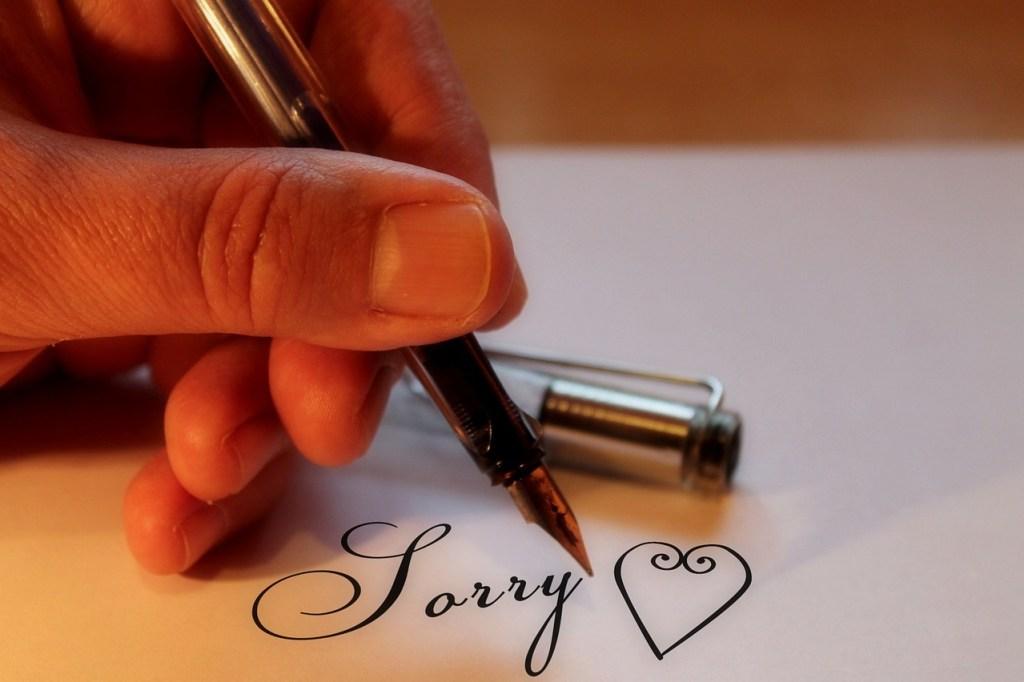 Sorry should matter