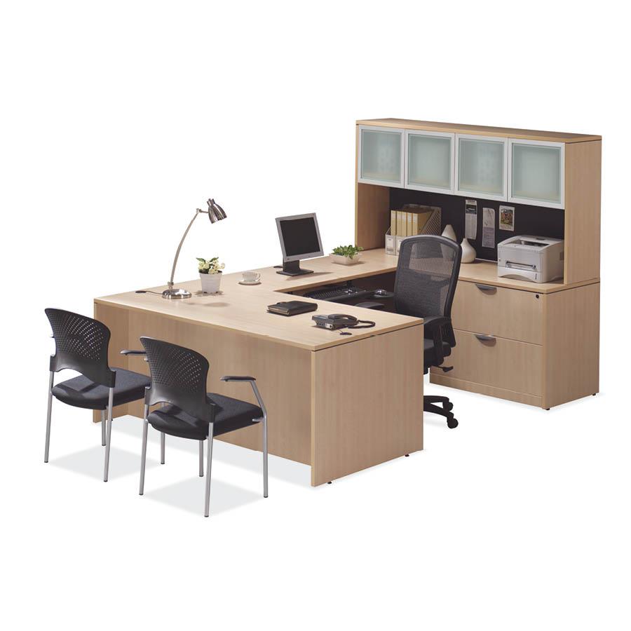 laminate u shaped desk with hutch 8 colors