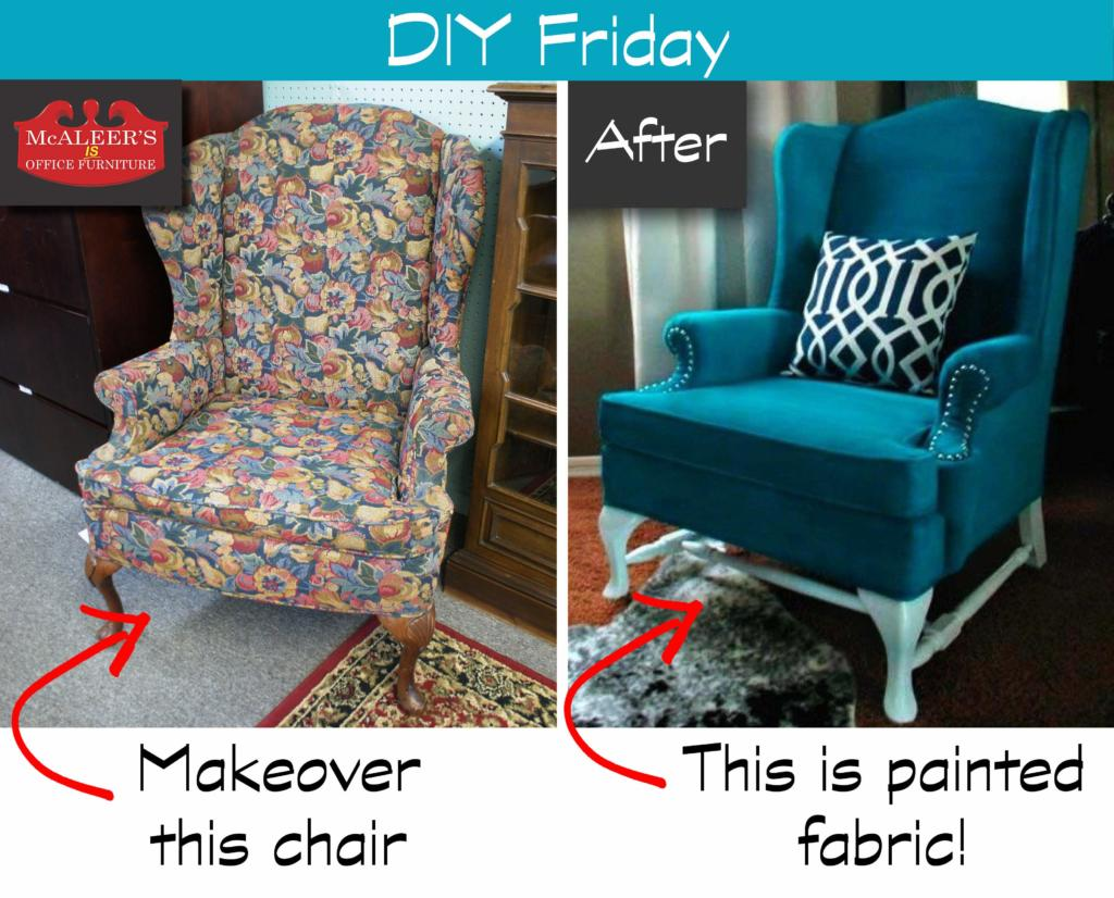 DIY Friday Painted Fabric McAleers Office Furniture