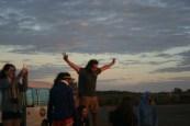 Uluru: Mat conducting the Sunrise