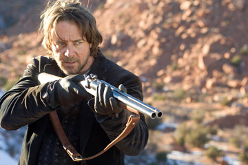 "Russell Crowe waxes philosophic -- and handles a mean shotgun -- in ""3:10 to Yuma."""